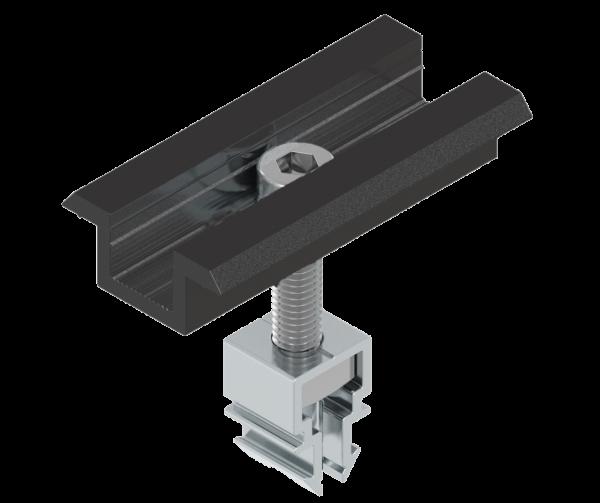 WASI Clip Mittelklemme schwarz für gerahmte Module (MH 36-45 mm)