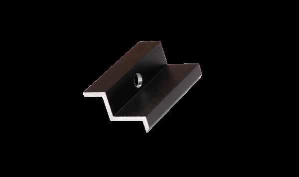 Modulendklemme ALU schwarz (MH 38mm)